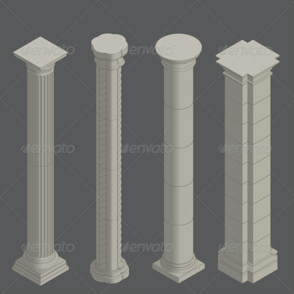 GraphicRiver Isometric Classical Columns 6589050
