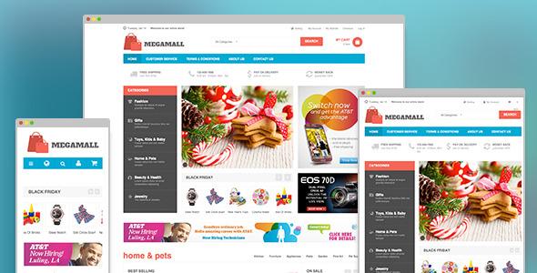MegaMall - Responsive magento for Super market