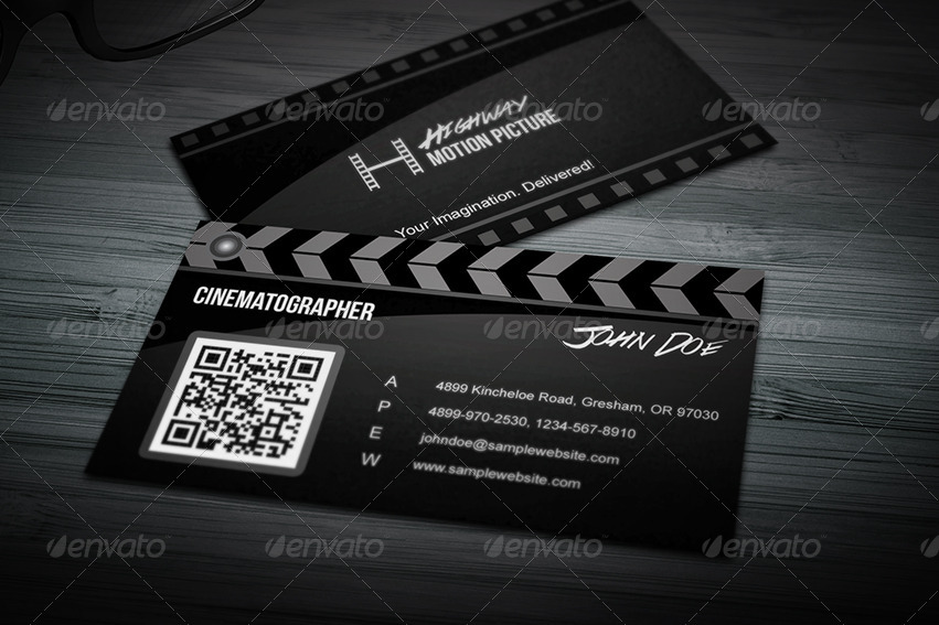 Super Creative Film Making Business Card By Taeef