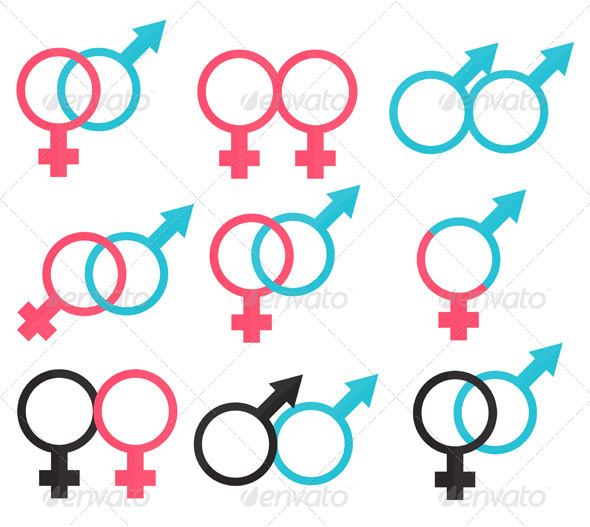 GraphicRiver Relations Symbols Between Man and Woman 6589382