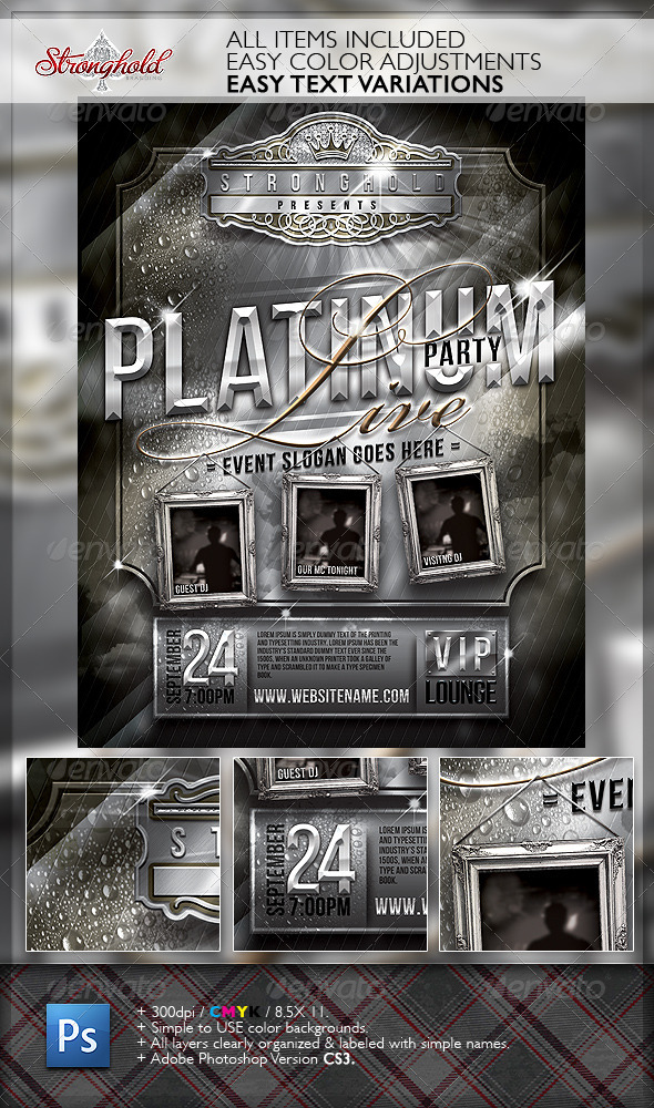 GraphicRiver Platinum Live Party Flyer Template 6580691