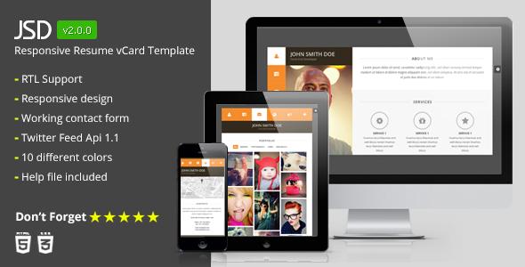 JSD - Responsive Resume vCard HTML Template