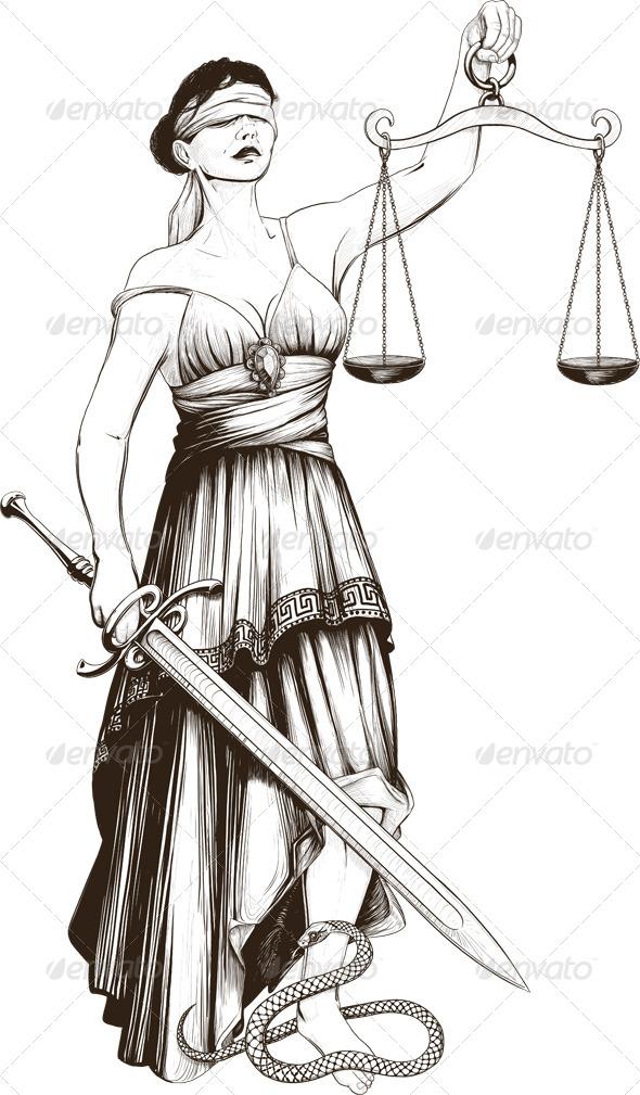 GraphicRiver Symbol of Justice Femida 6589772