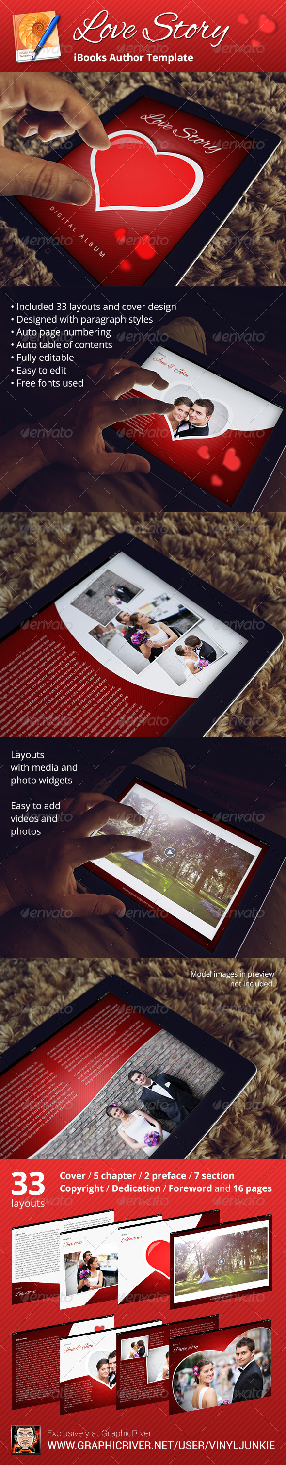 GraphicRiver Love Story Digital Album iBooks Author Template 6589913