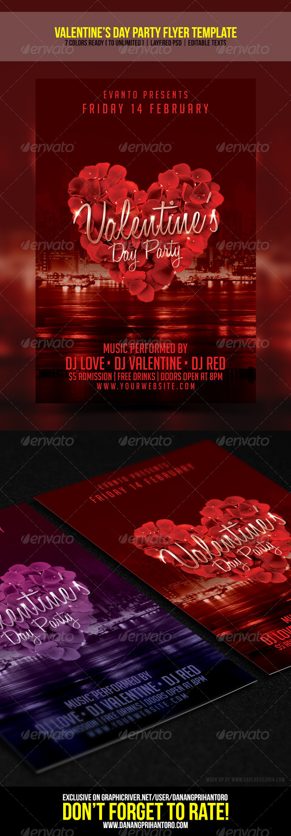GraphicRiver Valentine s Day Party Flyer Template 6574463