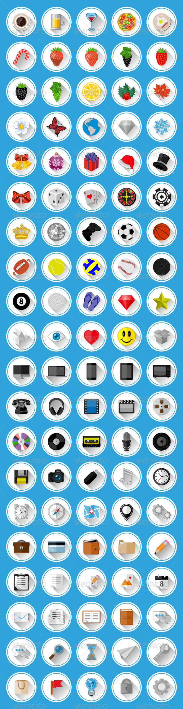 GraphicRiver Flat Icons and Pictograms Set 6590081
