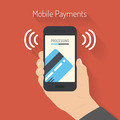 Processing of mobile payments illustration - PhotoDune Item for Sale