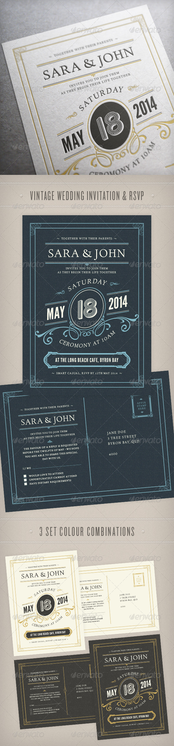 GraphicRiver Wedding Invitation 6582959