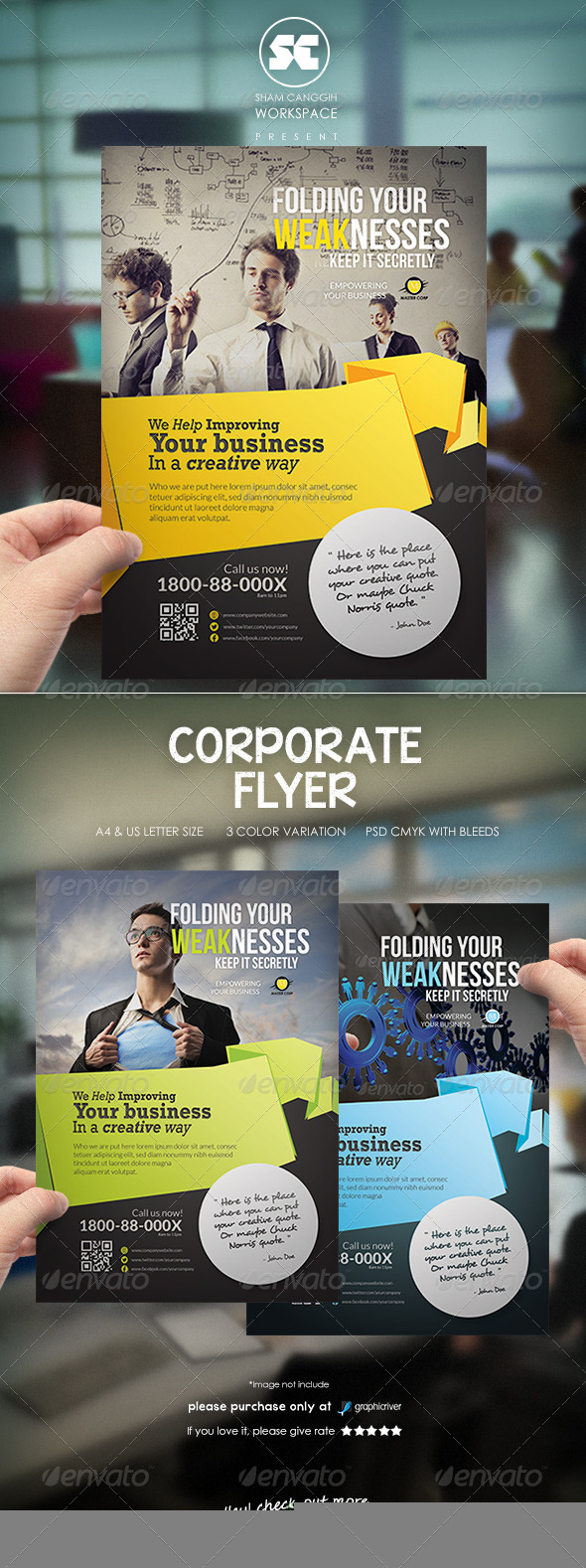 GraphicRiver Clean & Modern Corporate Flyer Magazine Ads 6590115