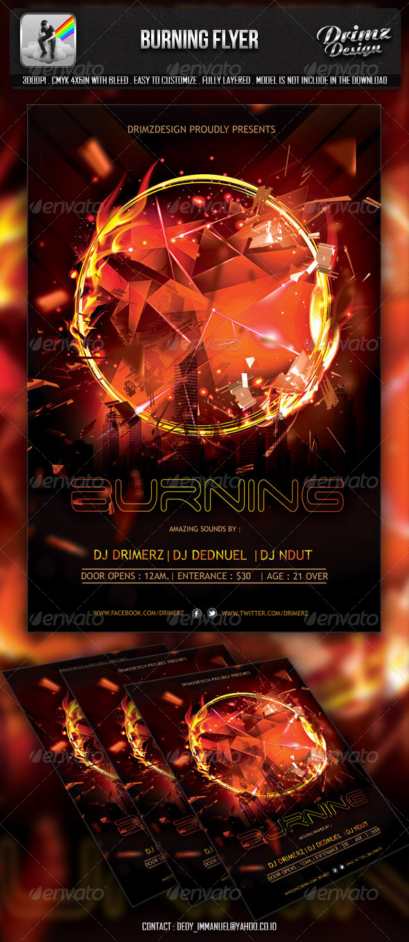 GraphicRiver Burning Flyer 6590118
