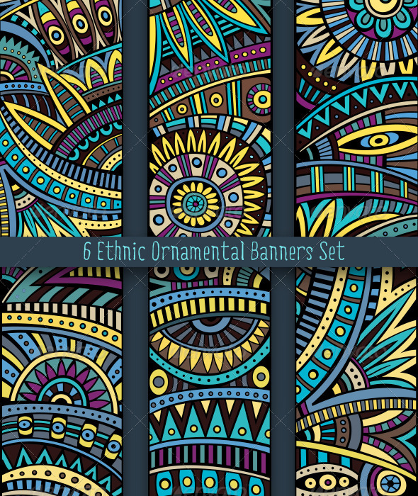 GraphicRiver Ethnic Ornamental Banners Set 6590200