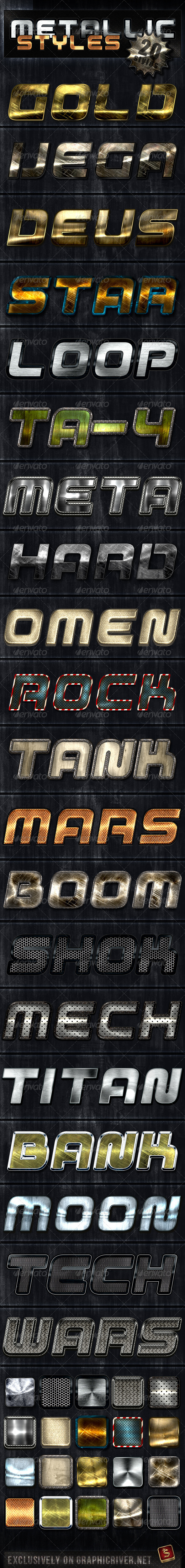 Unique Metallic Styles - Text Effects Styles