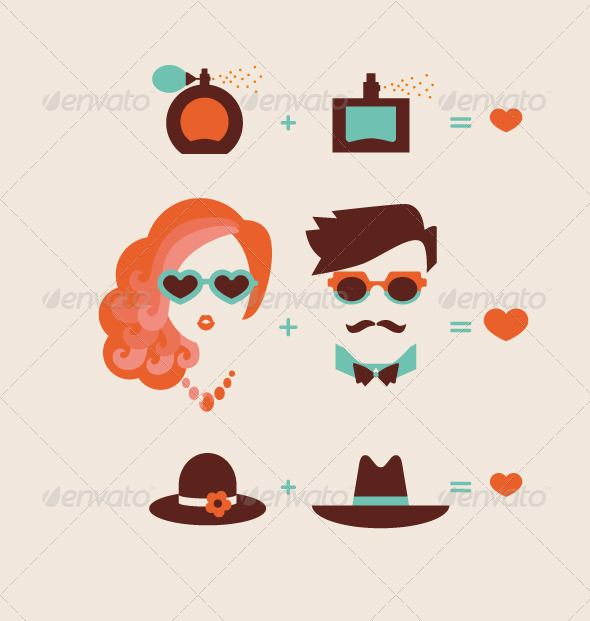 GraphicRiver Man and Woman Couple 6561733