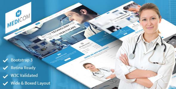 ThemeForest Medicom Fully Responsive Medical & Health Theme 6590621