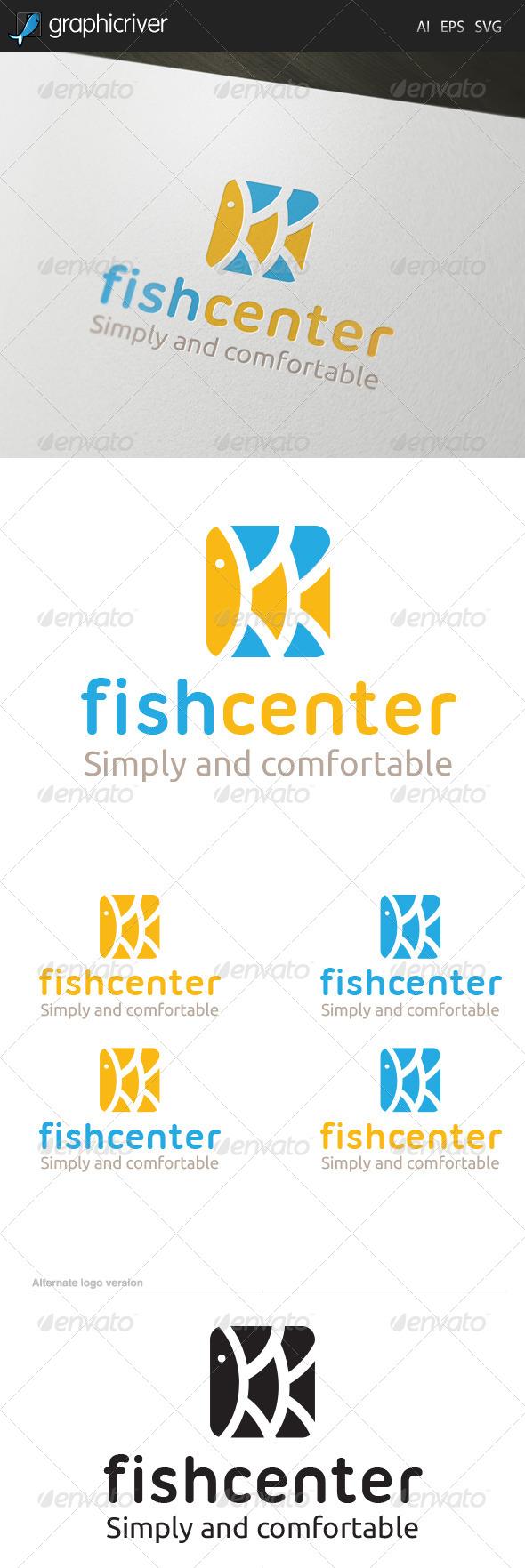 GraphicRiver Fish Center Logo 6590623