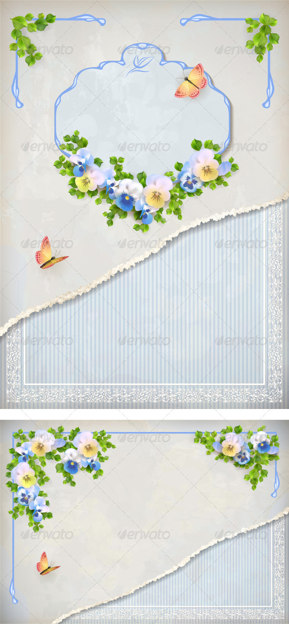 GraphicRiver Romantic Flower Vintage Background 6590776
