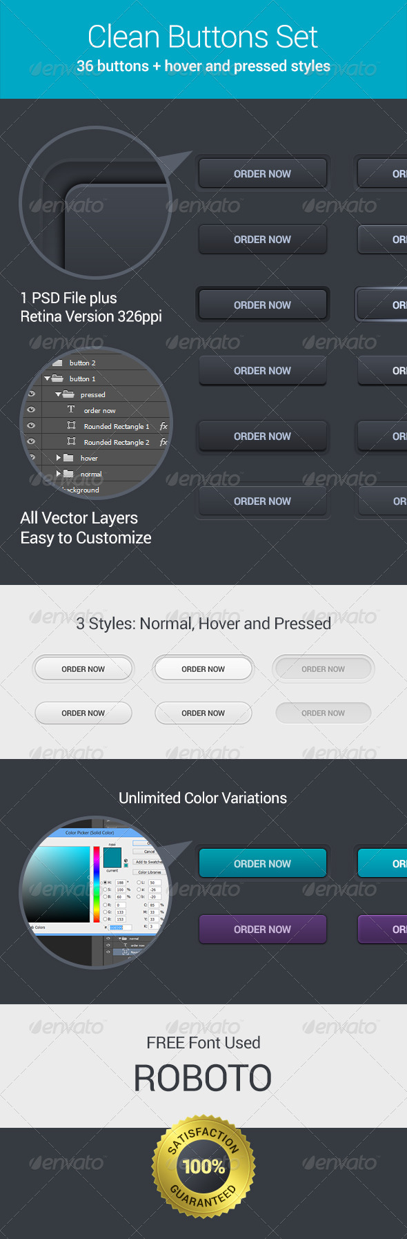 GraphicRiver Clean Buttons Set 6552672
