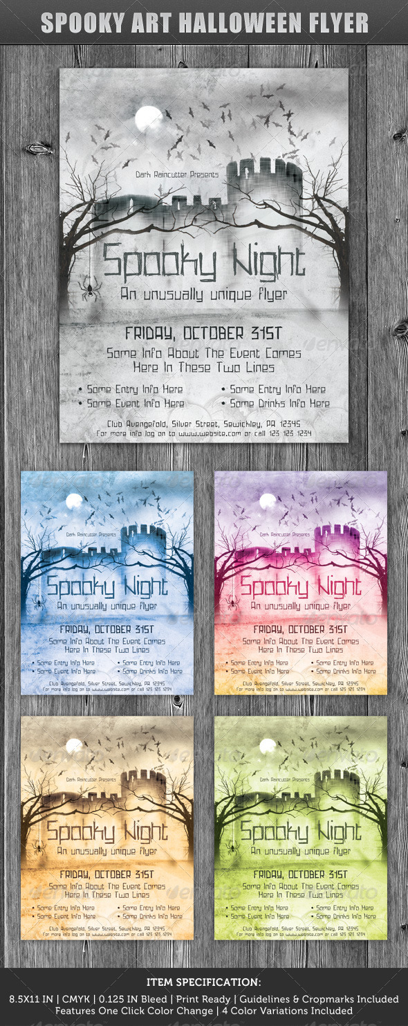 Spooky Art Halloween Flyer - Clubs & Parties Events