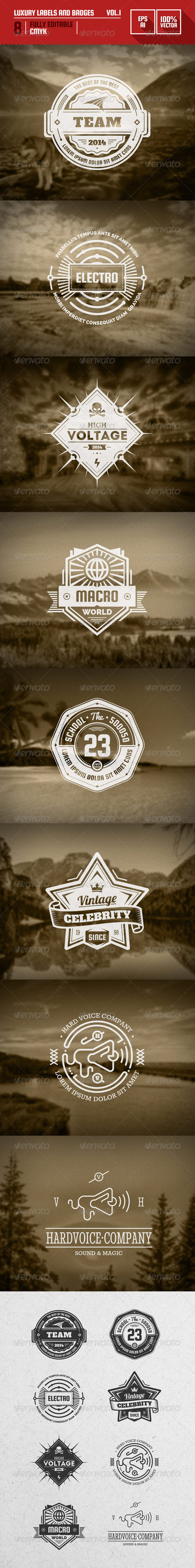 GraphicRiver Luxury Labels and Badges Vol.1 6591139