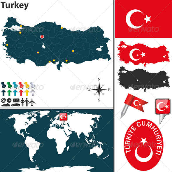 GraphicRiver Map of Turkey 6591144