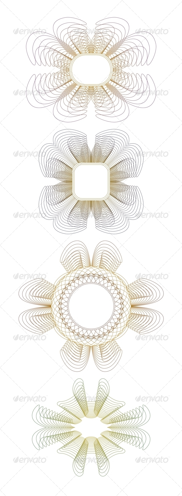 GraphicRiver Collection of Guilloche Rosettes 6591202