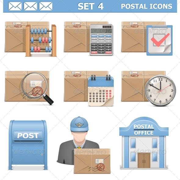 GraphicRiver Vector Postal Icons Set 4 6591222