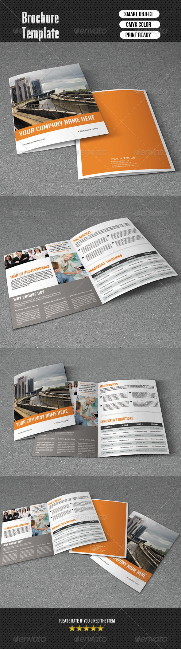 Minimal Bifold Brochure-Business - Corporate Brochures