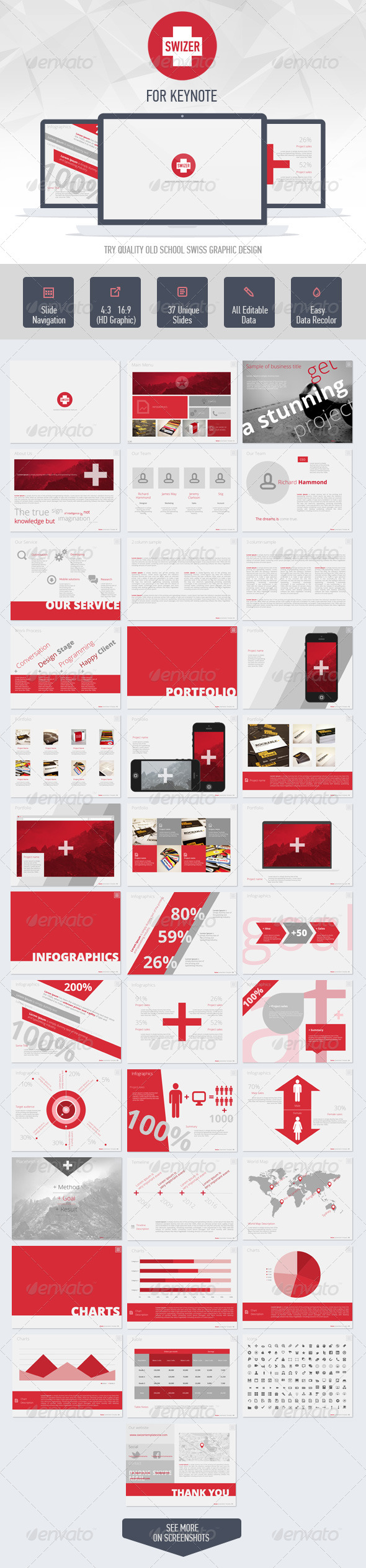 GraphicRiver Swizer Keynote Presentation Template 6586047