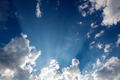 sun rays through clouds - PhotoDune Item for Sale