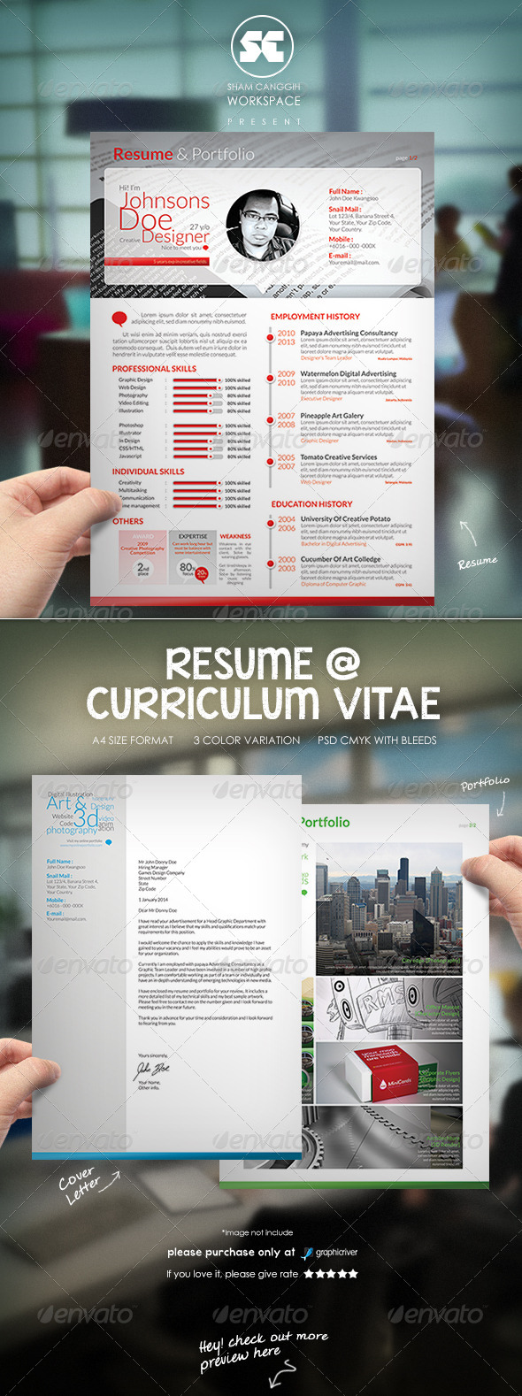 GraphicRiver Clean & Modern Resume CV 6591695