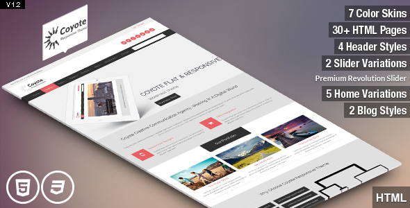 Coyote - Responsive Business HTML5 Template - This is the preview for the file.
