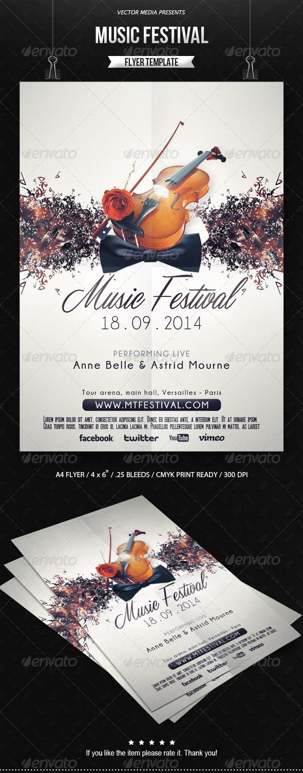 GraphicRiver Music Festival Flyer 6591779