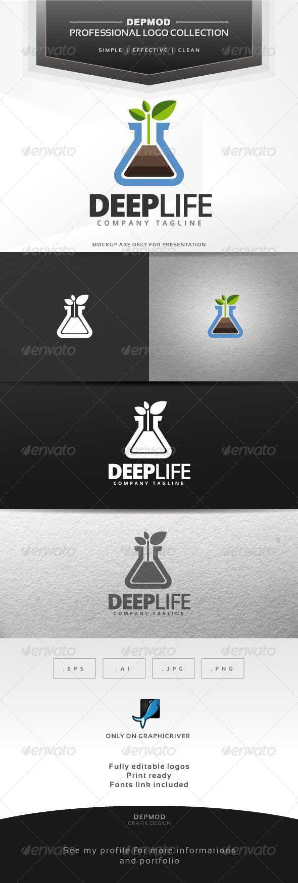 GraphicRiver Deep Life Logo 6591781
