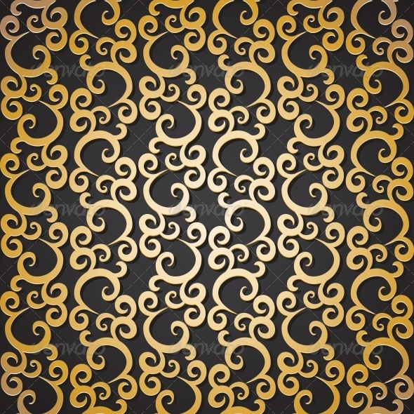 GraphicRiver Golden Pattern 6591782