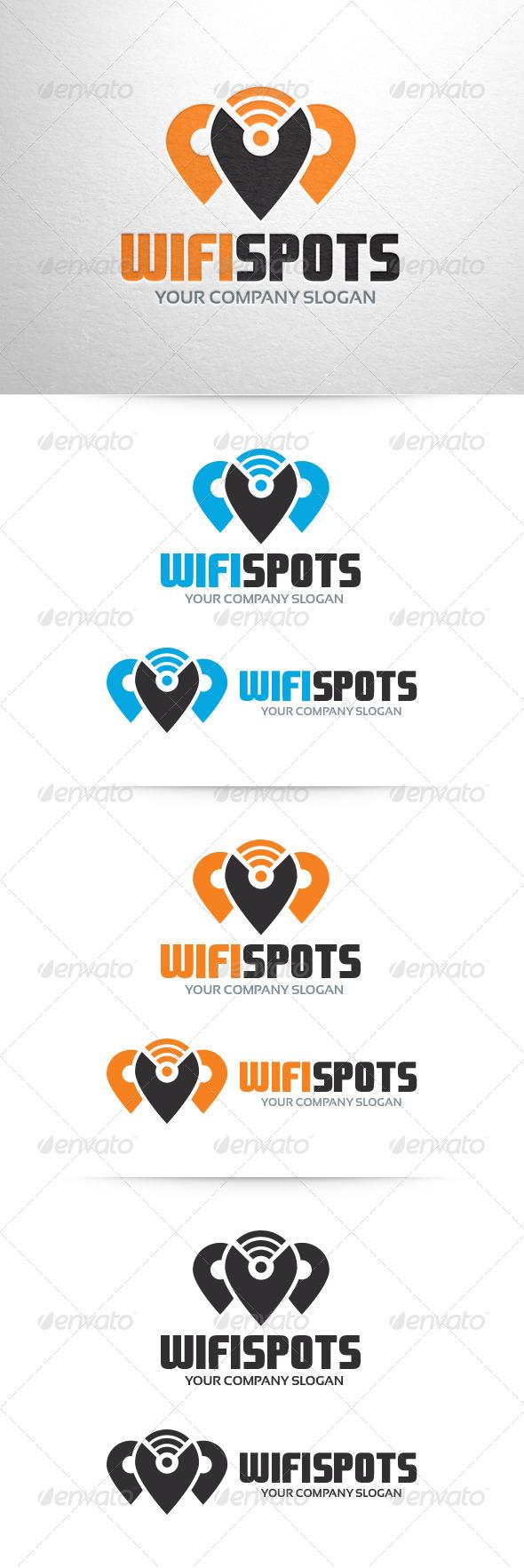 GraphicRiver Wi-Fi Spots Logo Template 6591788