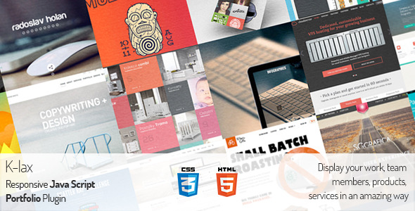 CodeCanyon Klax Responsive Team Portfolio Products Grid 6591791
