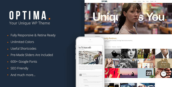 Optima - Responsive Agency WordPress Theme - Blog / Magazine WordPress