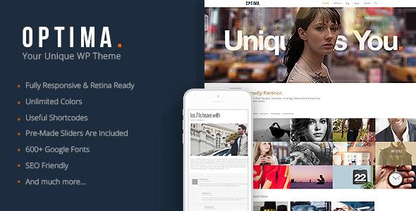 Optima - Responsive Agency WordPress Theme - Blog / Magazine WordPress