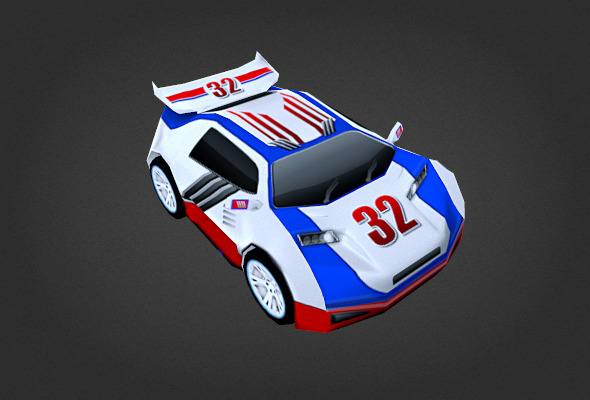 3DOcean white race car 6591836