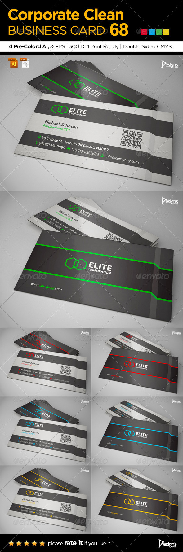 GraphicRiver Corporate Clean Business Card 68 6591889