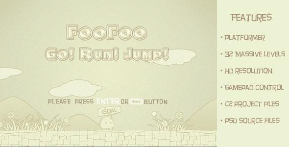 CodeCanyon FooFoo Go Run Jump-Traditional 2d platform game 6591899