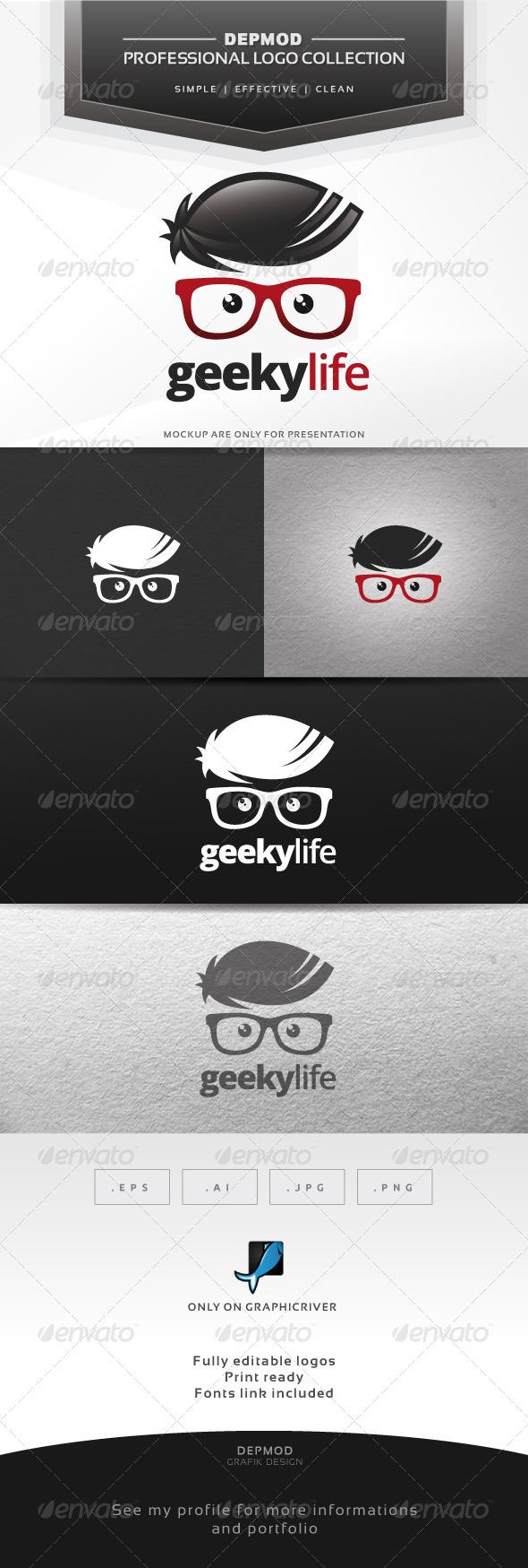 GraphicRiver Geeky Life Logo 6591930