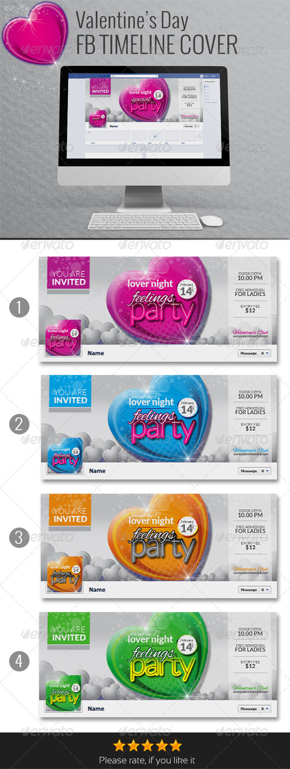 GraphicRiver Valentine s Day Facebook Timeline Cover 6591130