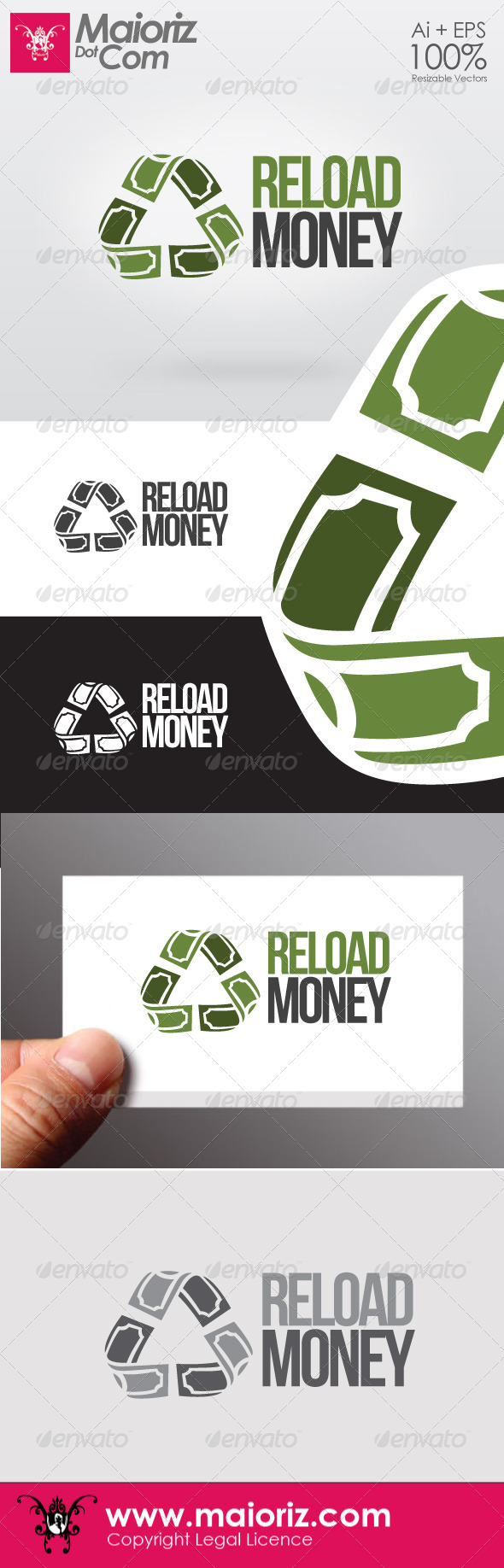 GraphicRiver Reload Money Logo 6591966