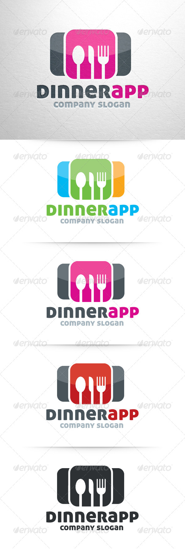 GraphicRiver Dinner App Logo Template 6592095