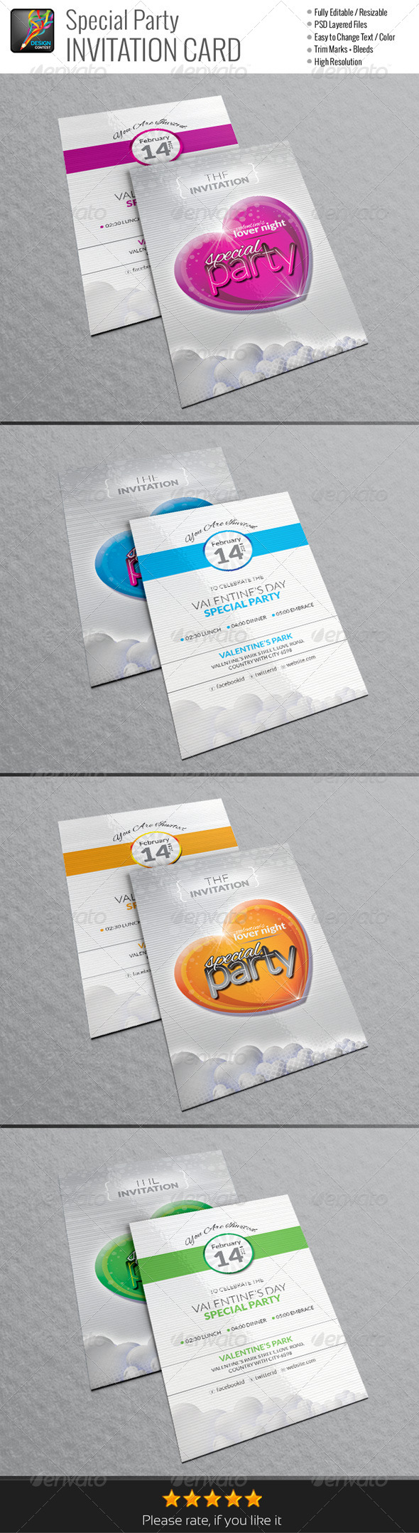 GraphicRiver Special Party Invitation Cards 6592144