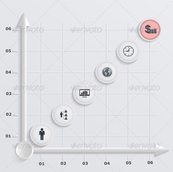 GraphicRiver Paper Stepwise Economic Graph Infographic 6592348