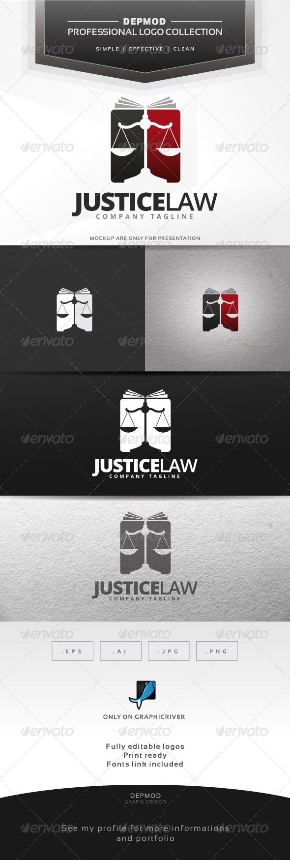 GraphicRiver Justice Law Logo 6592400