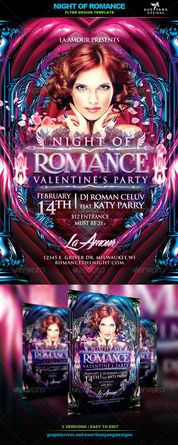 GraphicRiver Night Of Romance Flyer 6592402