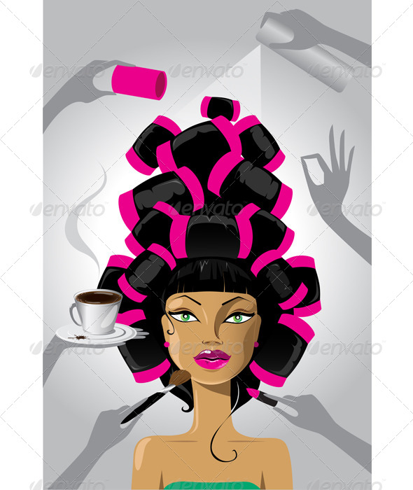 GraphicRiver Woman in a Salon 6592414
